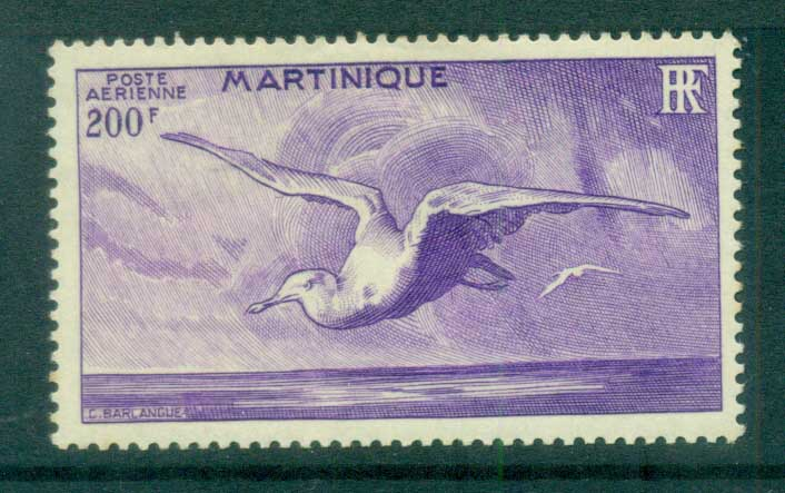 Martinique 1947 Birds, Albatross 200fr MLH