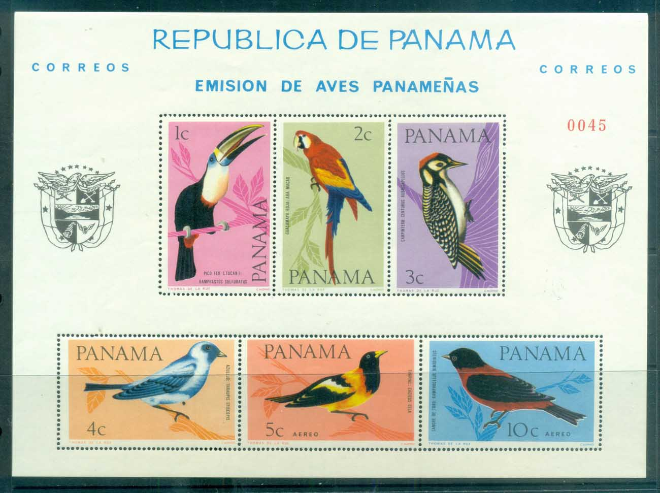 Panama 1965 Birds MS MUH