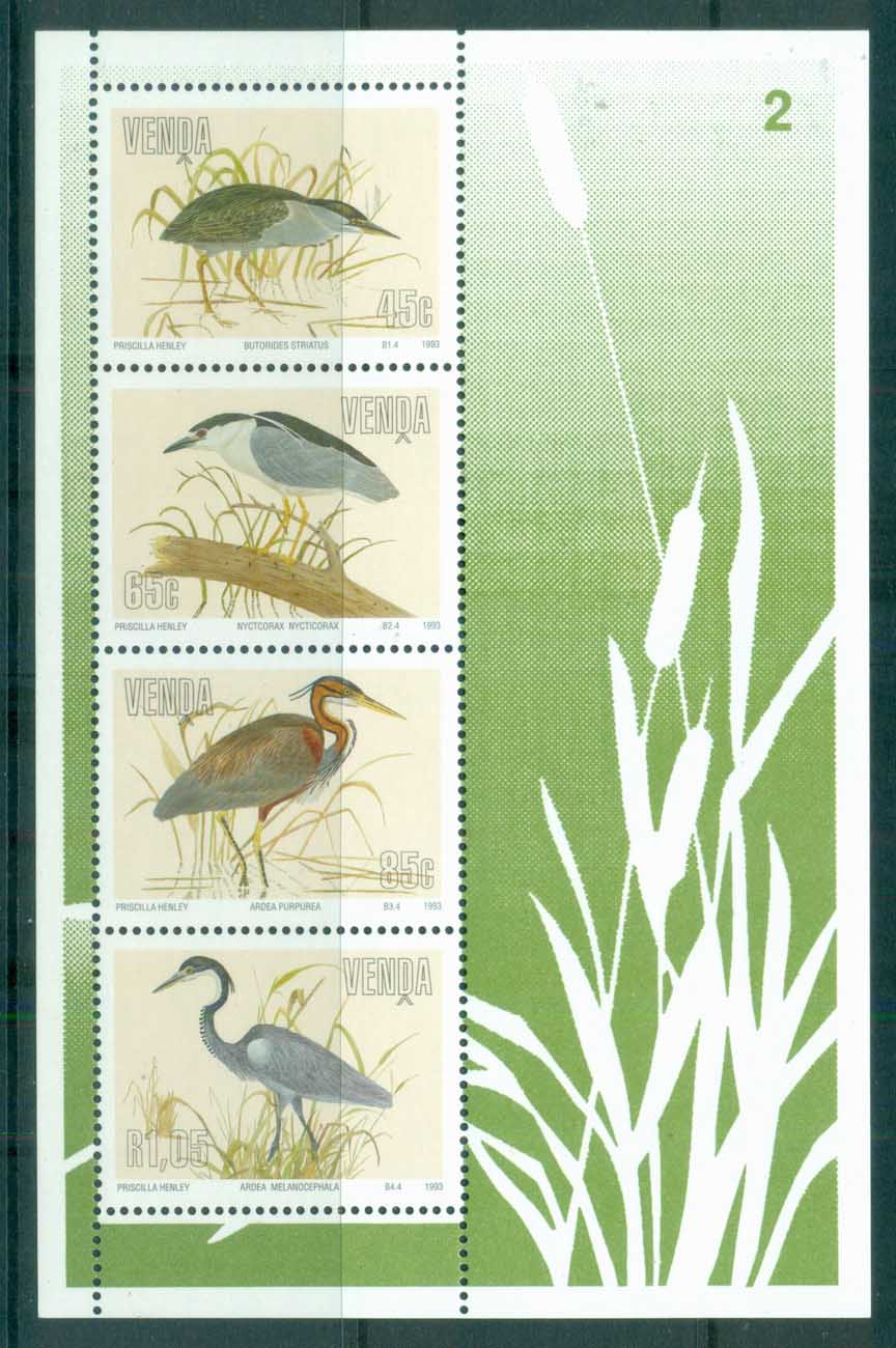 Venda 1993 Birds, Herons MS MUH