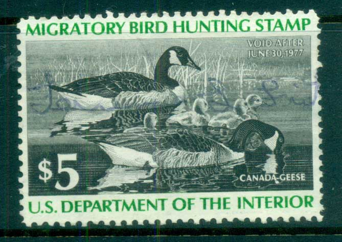 USA 1976 Sc#RW43 Federal Duck Stamp, Birds, Canada Goose Used