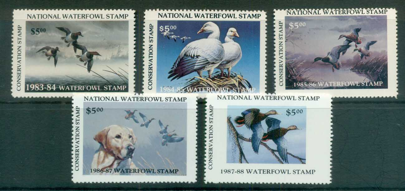 USA 1983-87 National Waterfowl Stamps MUH