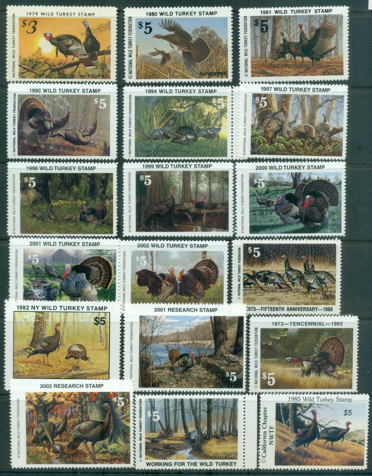 USA 1979on NWTS National Wild Turkey Federation Assorted most MUH