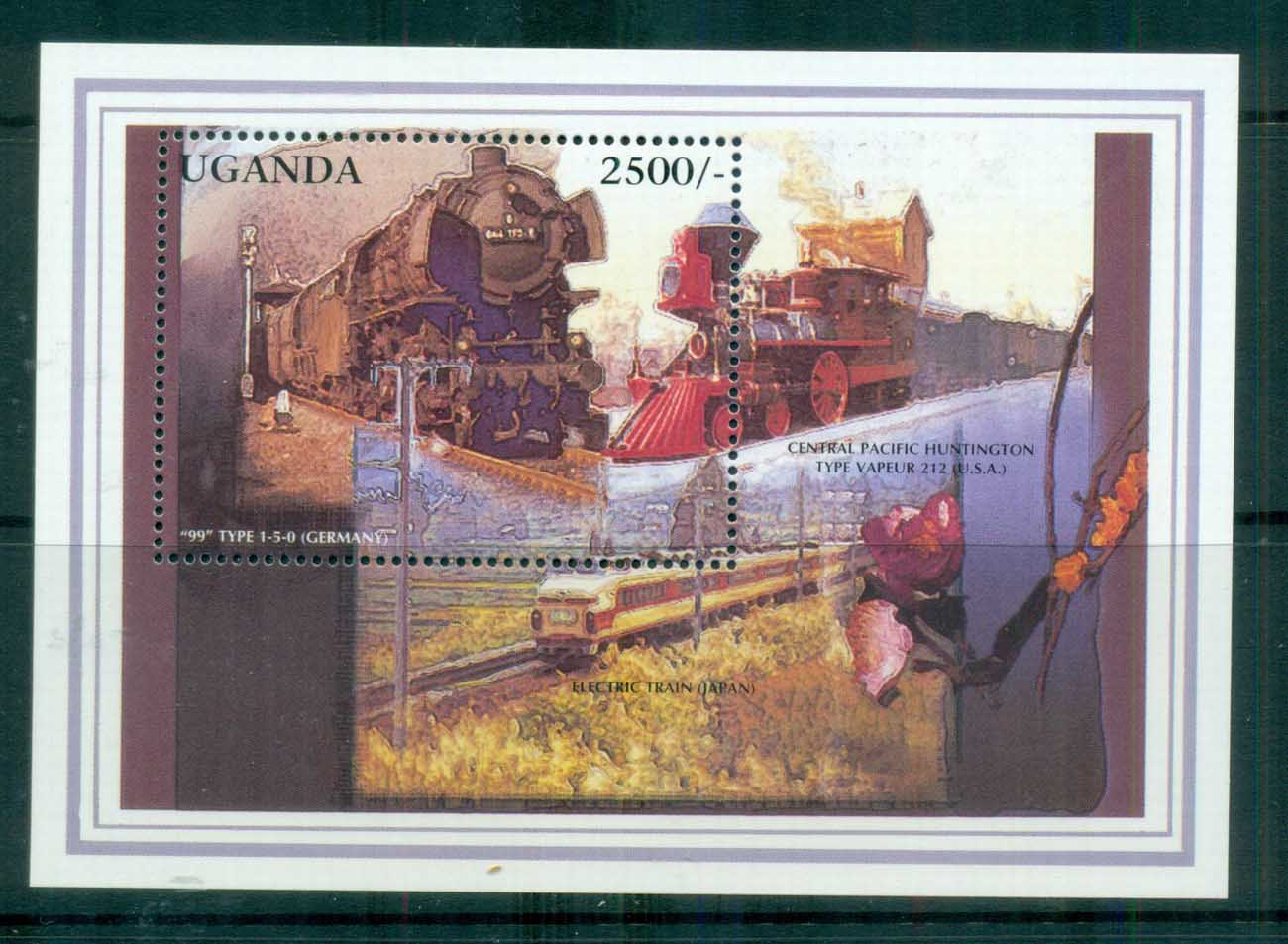 Uganda 1996 Classic Trains Ty1-5-0 Germany MS MUH