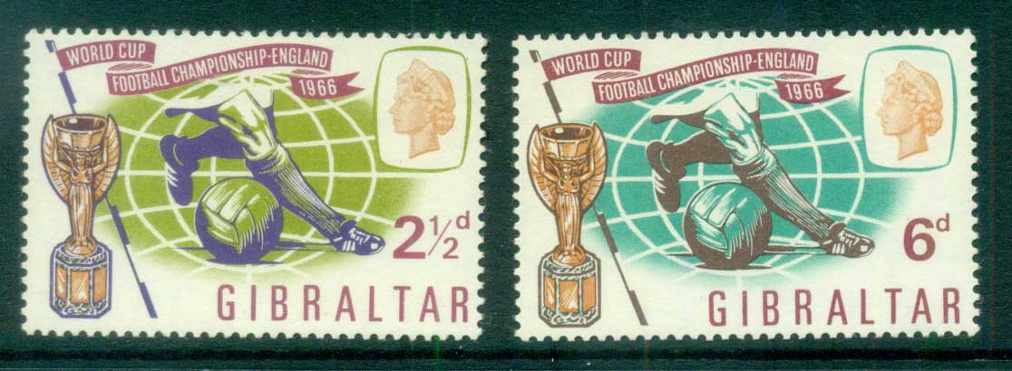 Gibraltar 1966 World Cup Soccer MUH