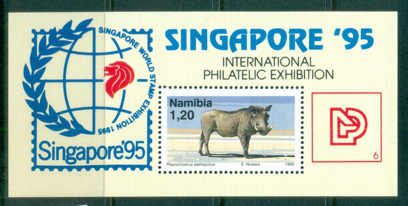 Namibia 1995 Singapore '95 Stamp Ex Boar MS MUH