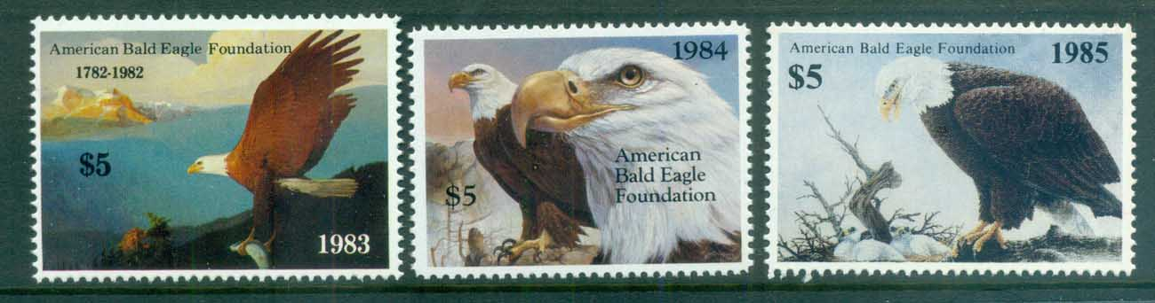 USA 1983-85 American Bald Eagle Foundation Stamps MUH