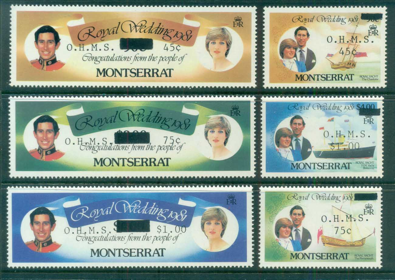Montserrat 1982 Royal Wedding, Charles & Diana Opt OHMS MUH