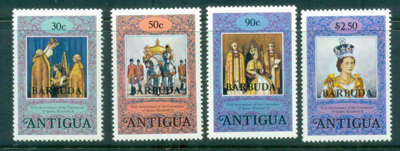 Barbuda 1978 Coronation 25th Anniv MUH