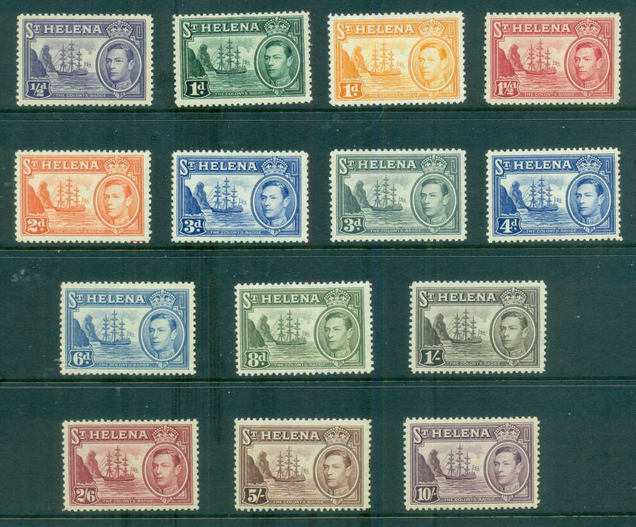 St Helena 1938-40 KGVI Pictorials, Bridge of the Colony MLH/MUH