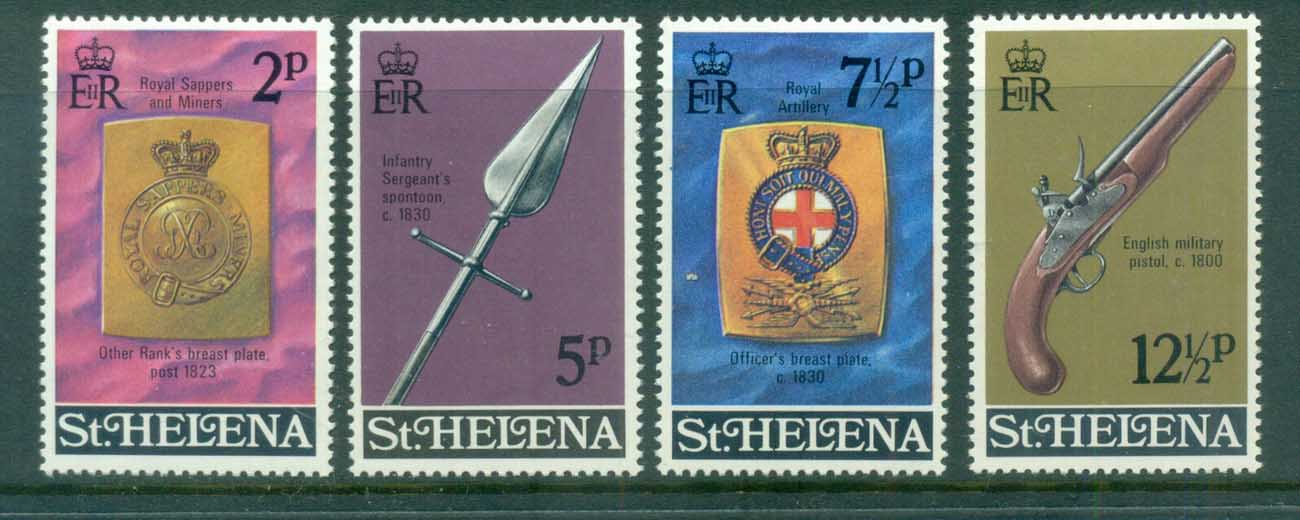 St Helena 1972 Regimental Emblems, Arms MUH