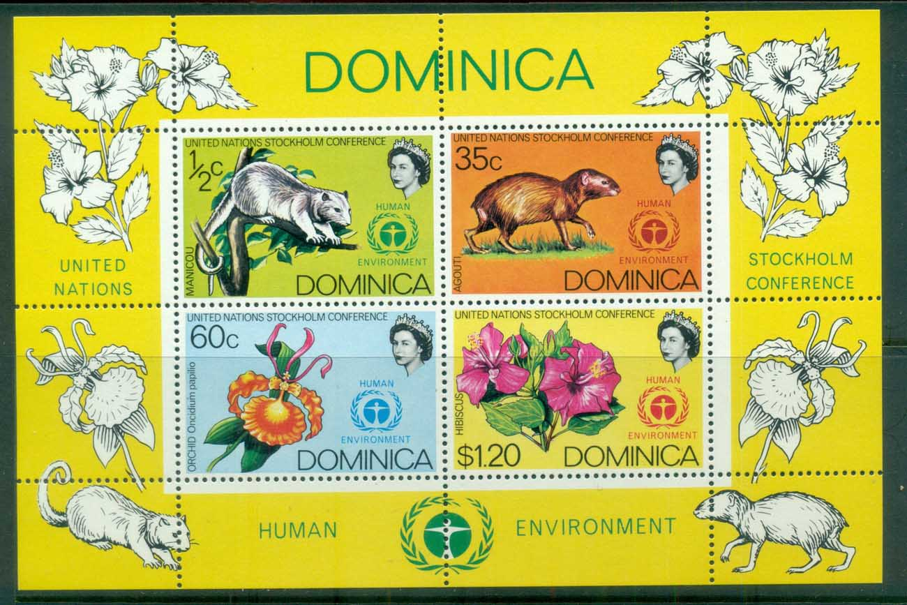 Dominica 1972 UN Conference on Human Environment MS MUH