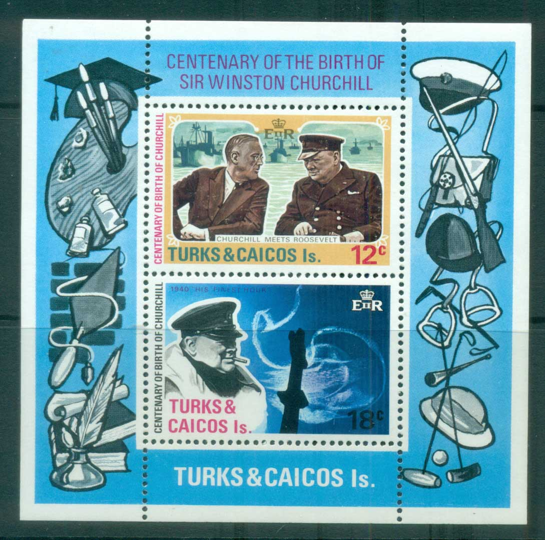 Turks & Caicos Is 1974 Winston Churchill MUH