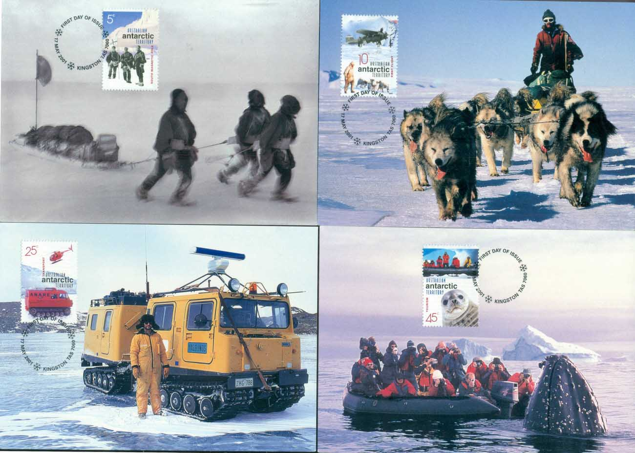 AAT 2001 Australians in the Antarctic 4xMaxicards