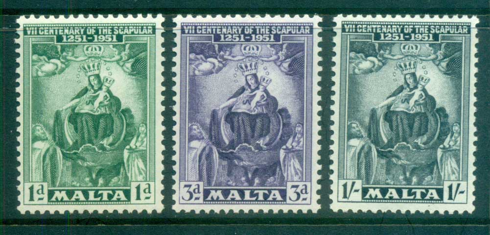 Malta 1951 Presentation of the Scapular MLH