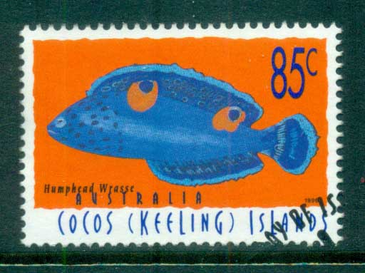 Cocos Keeling Is 1996 Fish, 85c Humpback Wrasse FU