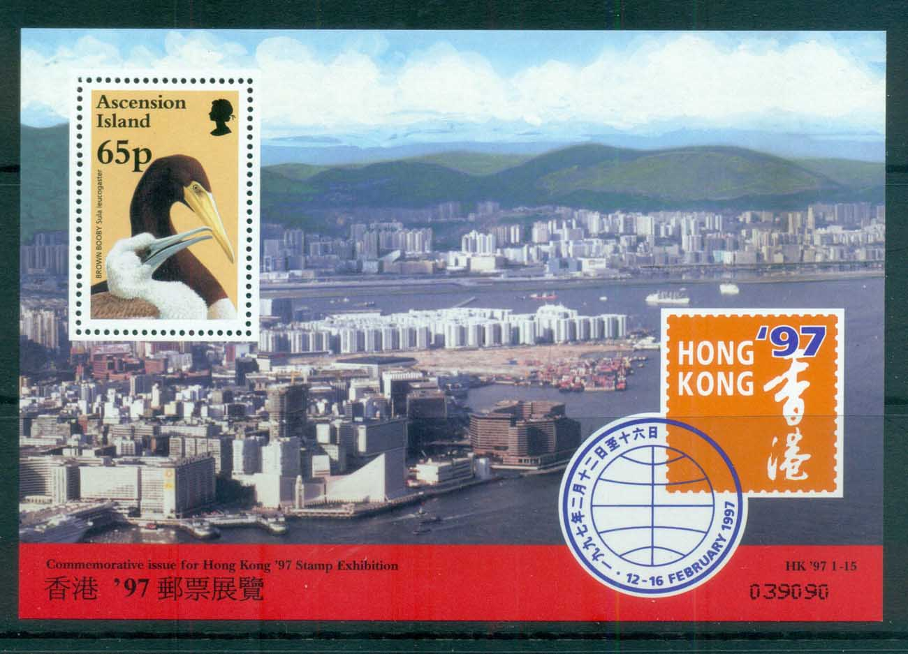 Ascension Is 1996 Return of Hong Kong to China, bird MS MUH