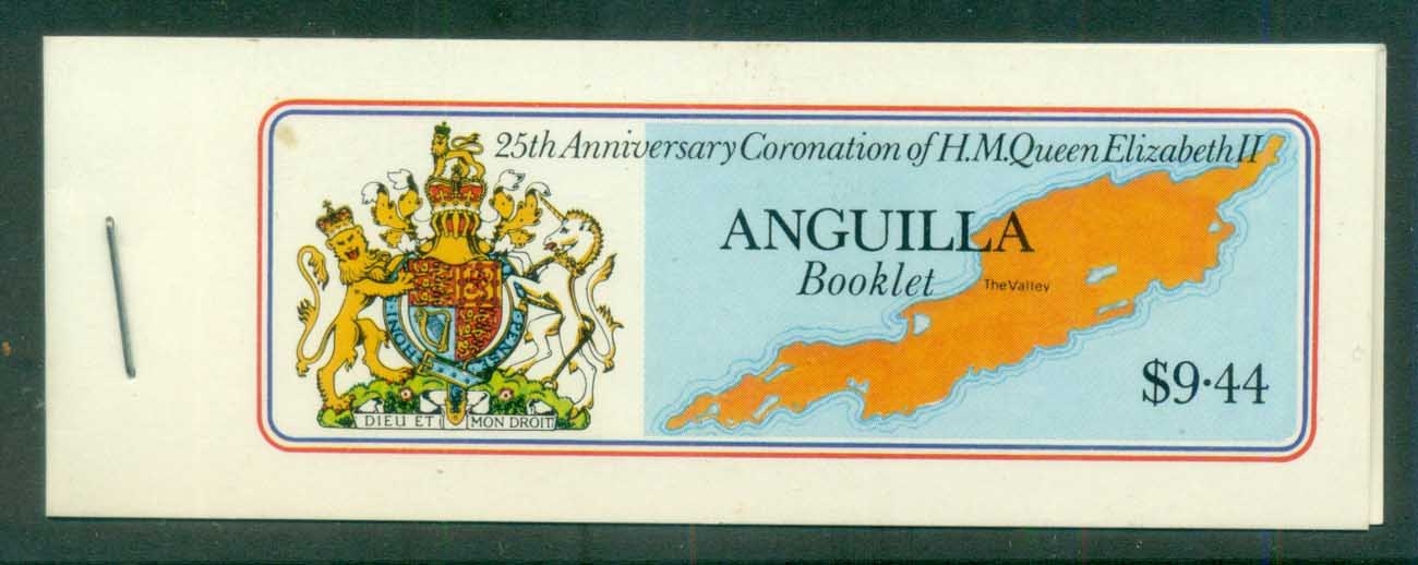 Anguilla 1978 QEII Coronation 25th Anniv., booklet, (pane selvage at right) MUH