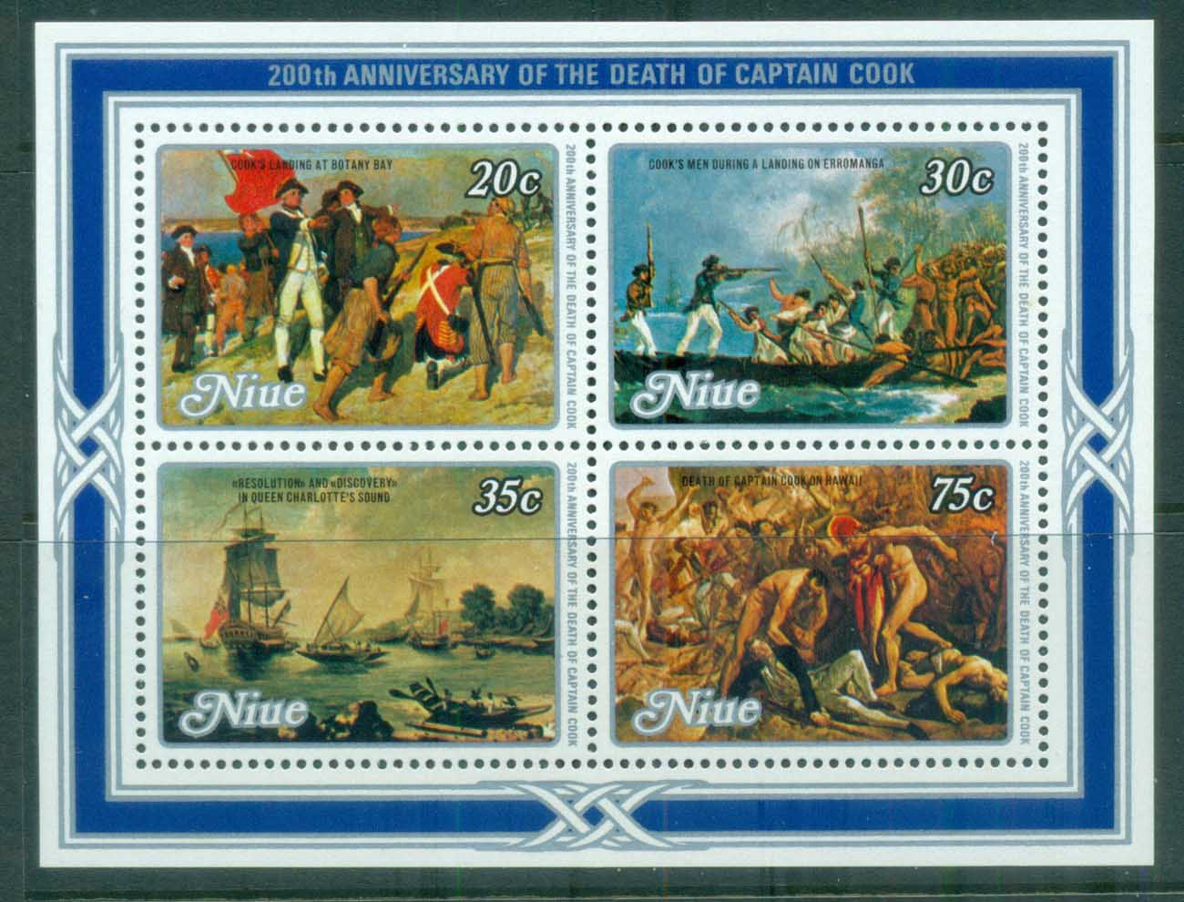 Niue 1979 Captain Cook 200th Death Anniv MS MUH