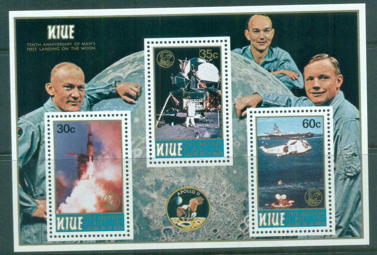 Niue 1979 Apollo 11 Space Mission MS MUH