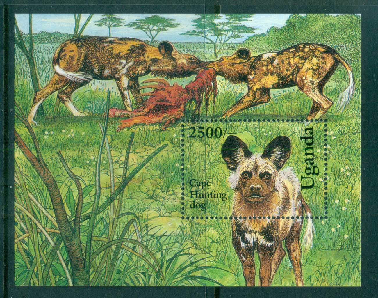 Uganda 1993 Dogs, Cape Hunting Dogs MS MUH