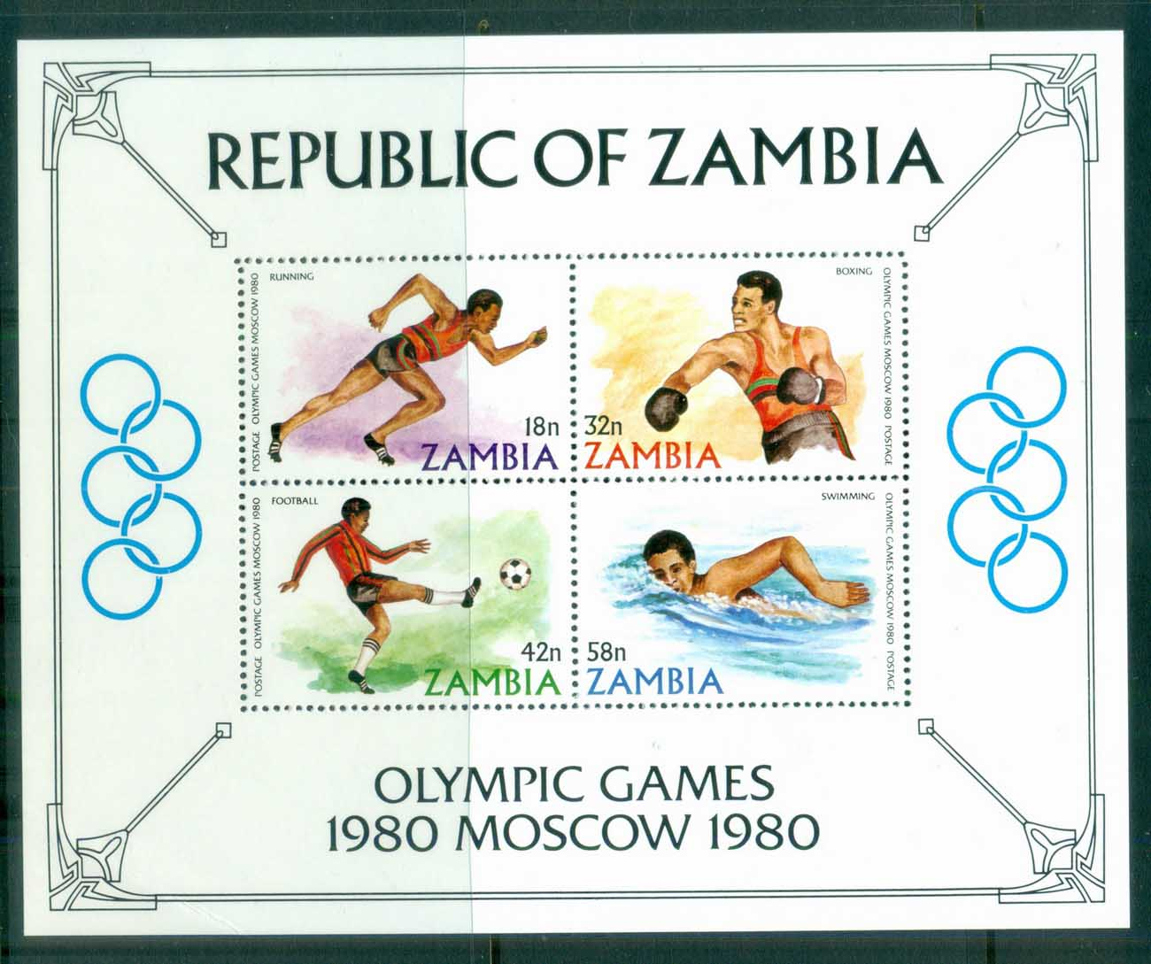Zambia 1980 Summer Olympics, Moscow MS MUH
