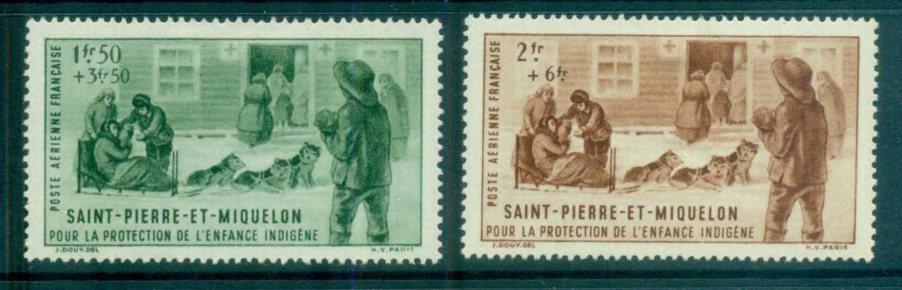 St Pierre & Miquelon 1942 Native Children's Fund MLH