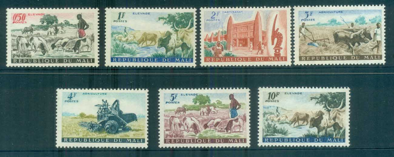 Mali 1961 Pictorials to 10fr MLH