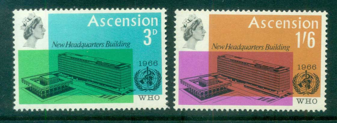 Ascension Is 1966 WHO Headquarters, Geneva MUH
