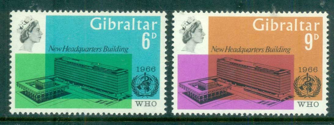 Gibraltar 1966 WHO Headquarters, Geneva MUH