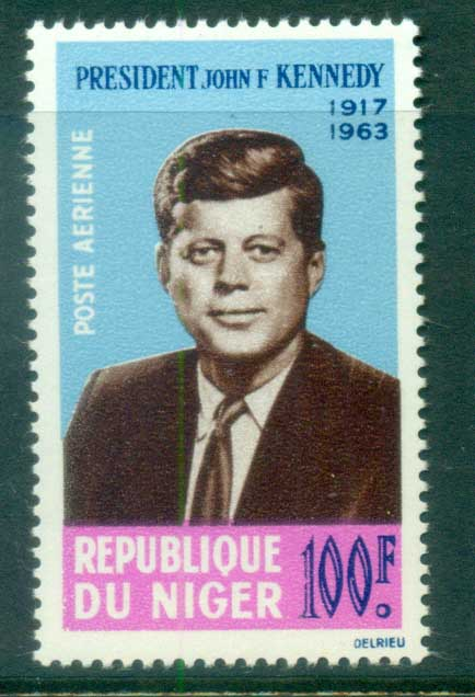 Niger 1964 JFK Kennedy in Memoriam MUH