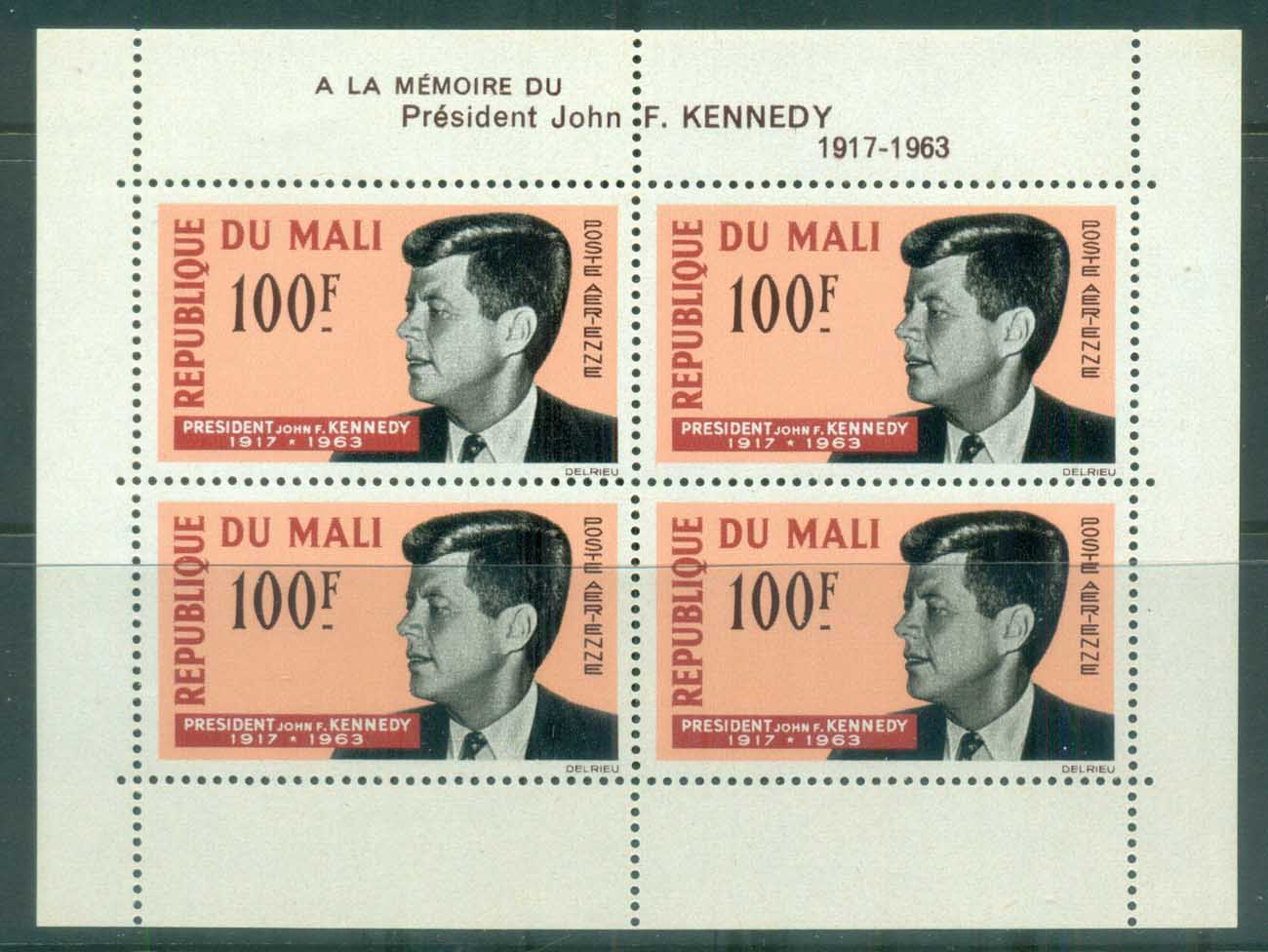 Mali 1964 JFK Kennedy in Memoriam MS MUH