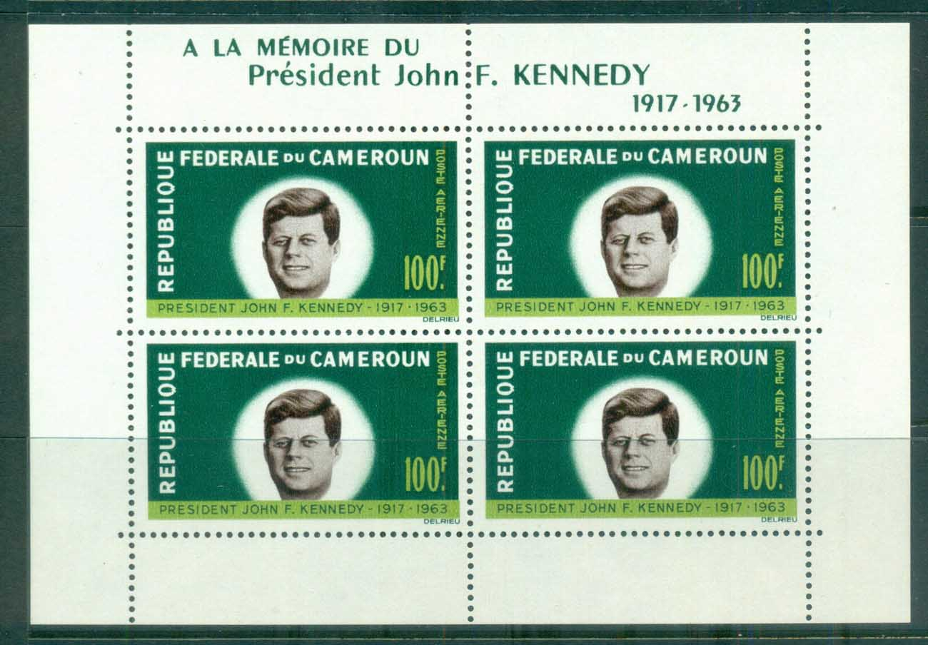 Cameroun 1964 JFK Kennedy in Memoriam MS MUH