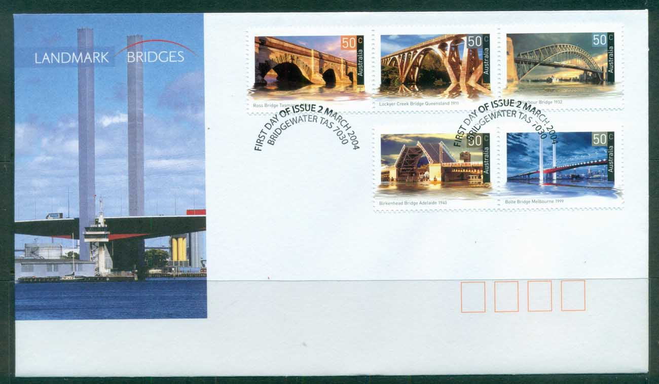 Australia 2004 Landmark Bridges FDC