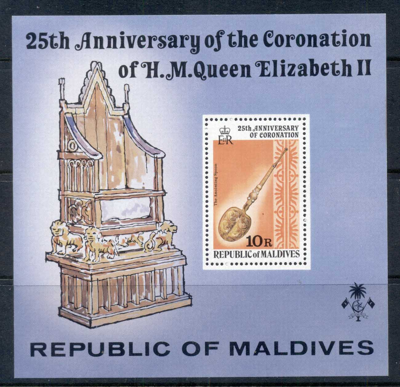 Maldive Is 1978 QEII 25th Anniv. Coronation MS MUH