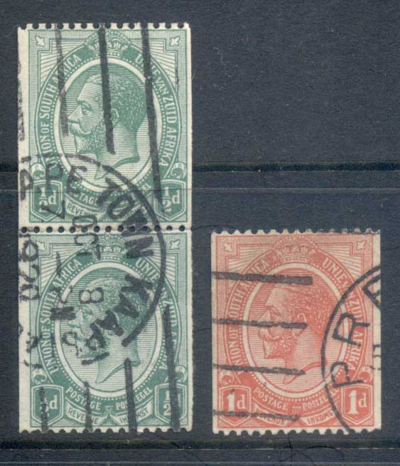 South Africa 1913-24 Assorted Coils FU