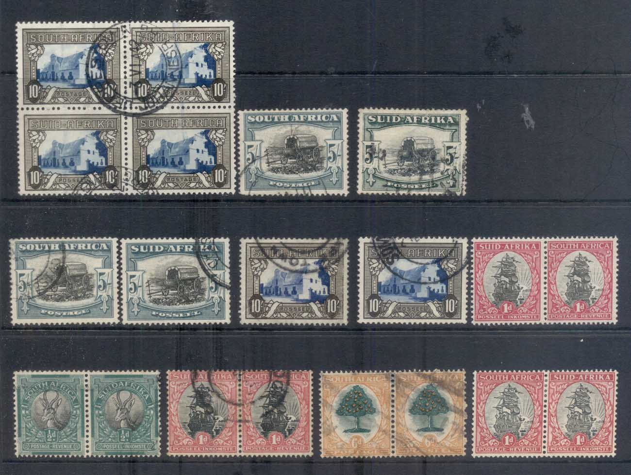 South Africa 1927 on Assorted Pictorials , mixed issues FU