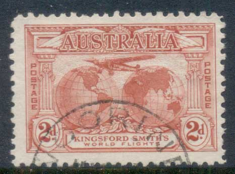 Australia 1931 Kingsford Smith,Southern Cross, Air Mail Service 2d FU