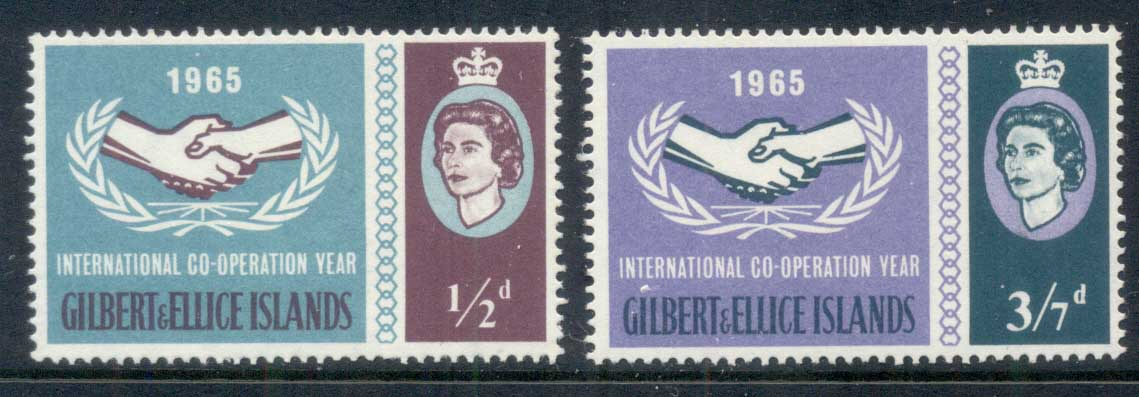 Gilbert & Ellice Is 1965 ICY International Cooperation Year MUH