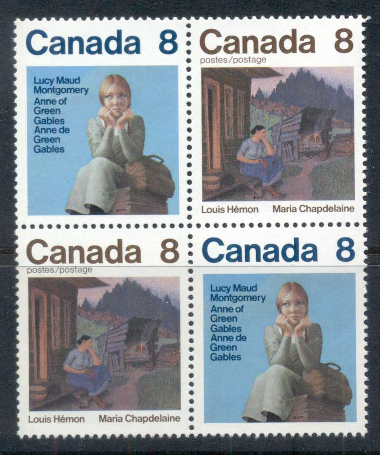 Canada 1975 Lucy Maud Montgomery blk4 MUH