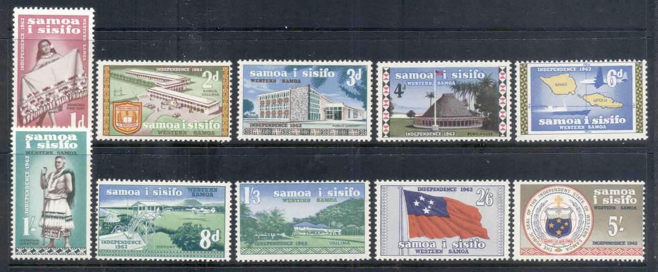 Samoa 1962 Pictorials, Independent State MUH