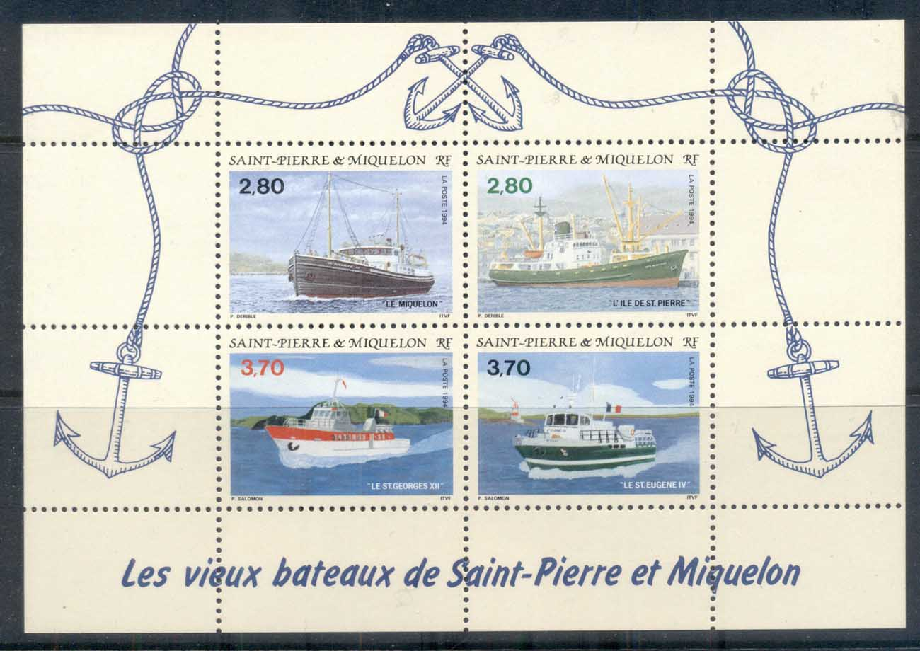 St Pierre et Miquelon 1994 Old Ships MS MUH