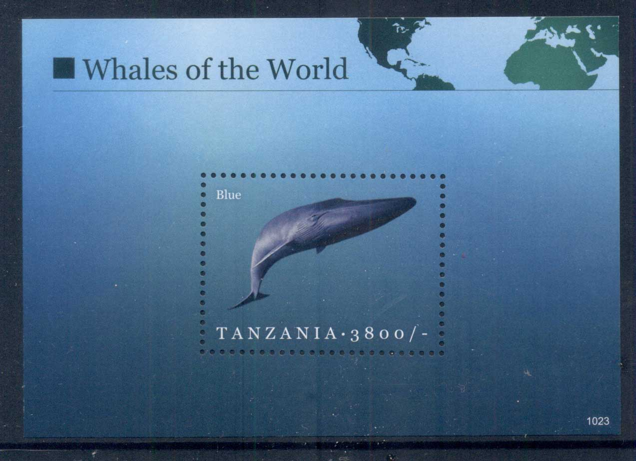 Tanzania 2011 Marine Life,Whales of the World, Blue Whale 3800/- MS MUH