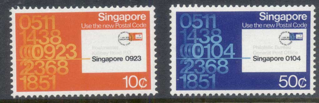 Singapore 1979 Postal Code Systen MLH