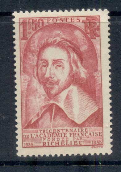 France 1935 French Academy, Cardinal Richelieu MLH