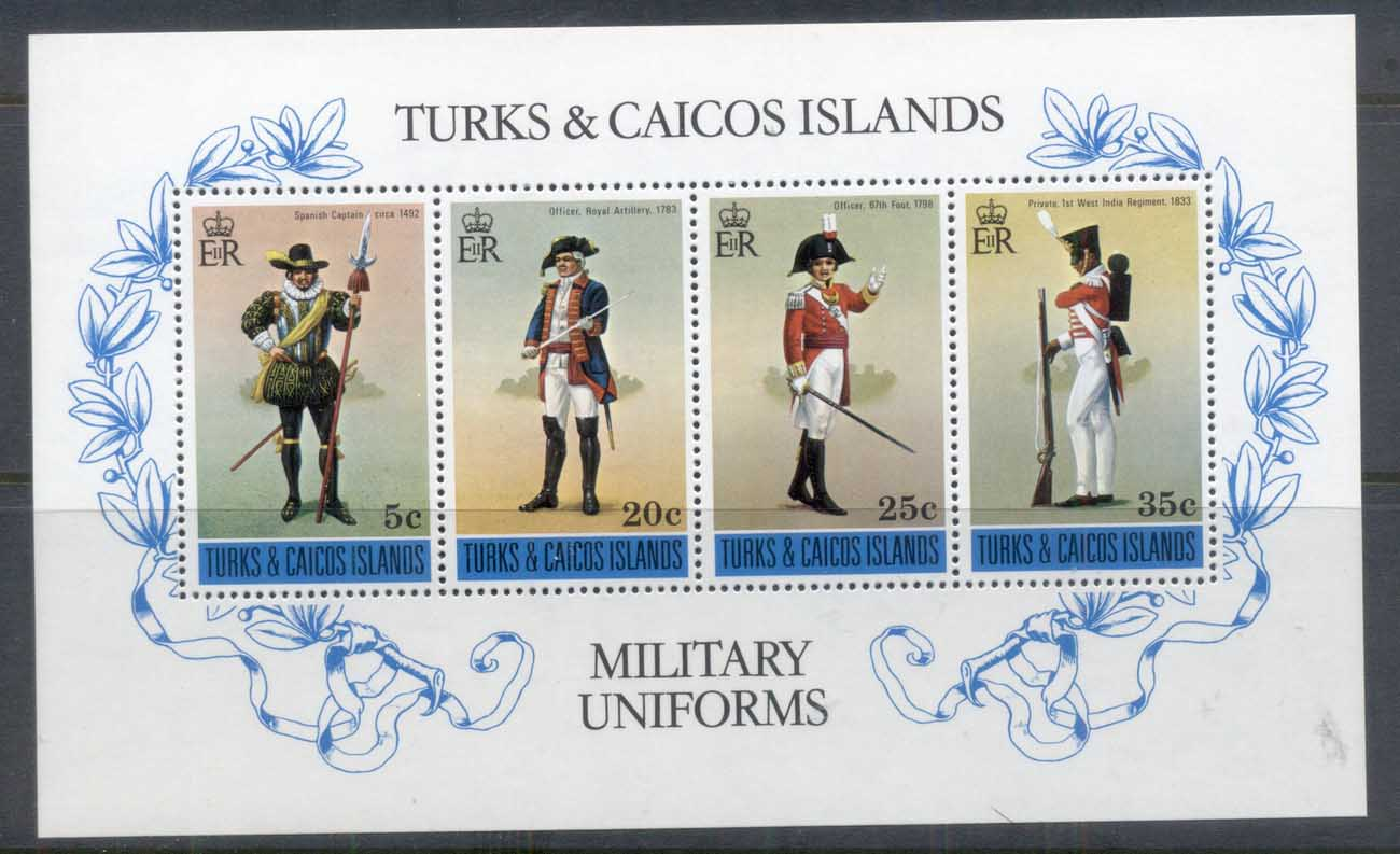 Turks & Caicos Is 1975 Military Uniforms MS MUH