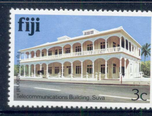 Fiji 1979-91 Pictorials, Telecommunications Buildind 3c MUH