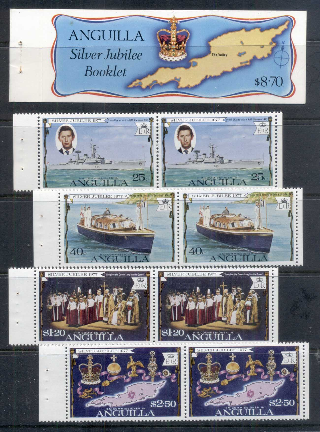 Anguilla 1977 QEII Silver Jubilee booklet exploded MUH