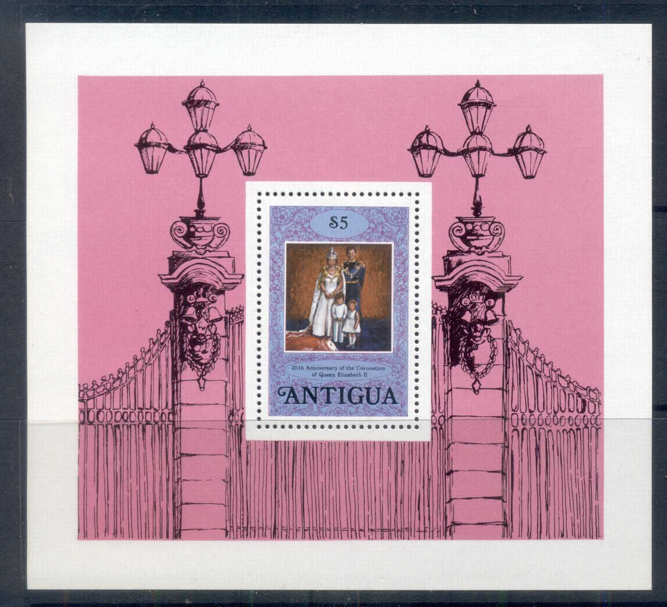 Antigua 1978 QEII Coronation 25th Anniversary MS MUH