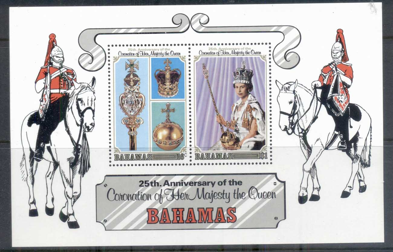 Bahamas 1978 QEII Coronation 25th Anniversary MS MUH