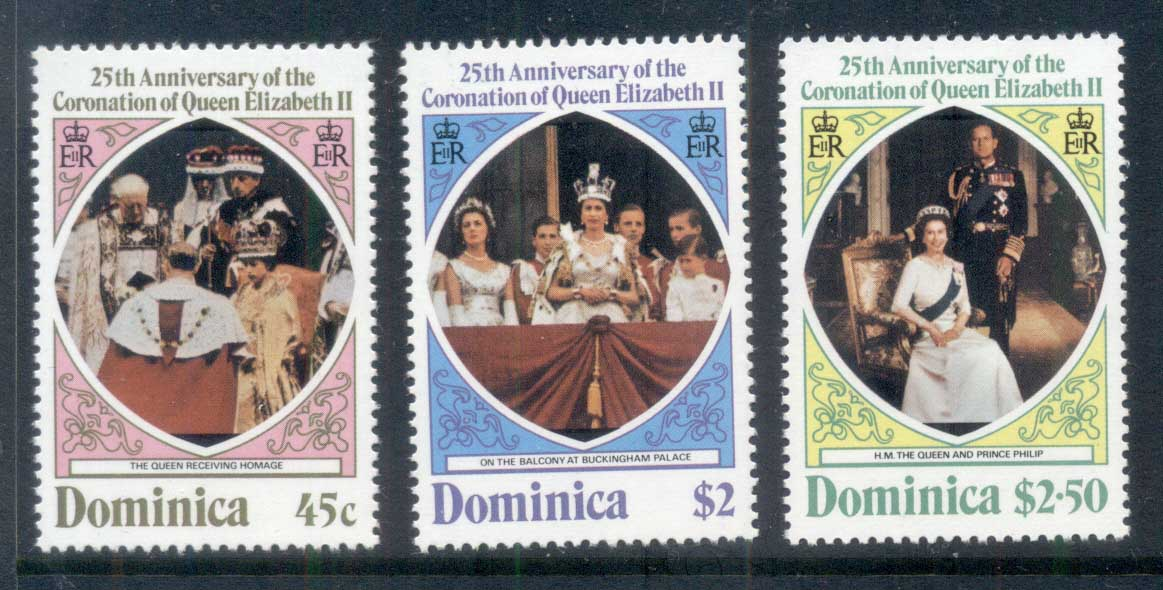 Dominica 1978 QEII Coronation 25th Anniversary MUH